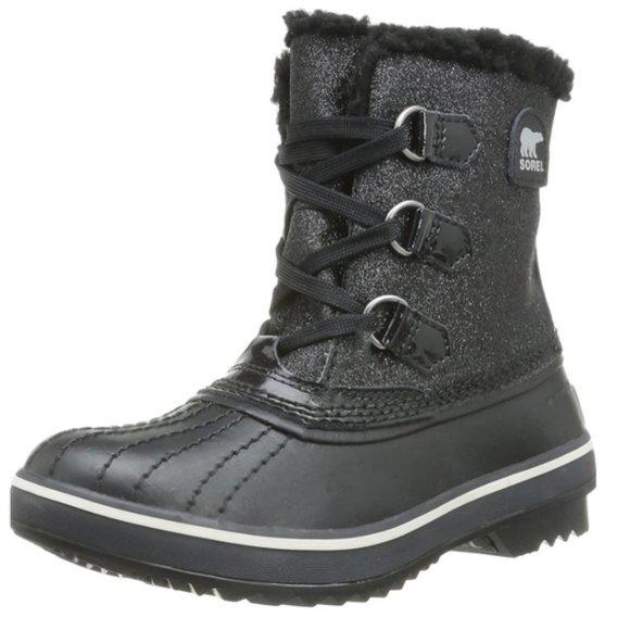 Sorel Tivoli Glitter Waterproof Winter Boots Black